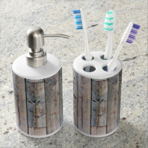 Rustic Barnwood Bathroom Set