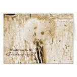 rustic barnwood daisy country bridesmaid greeting cards