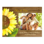 Rustic Barnwood Fall Photo Save the Date Postcards