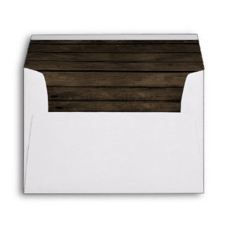 Rustic Barnwood Liner Wedding envelopes