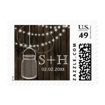 Rustic Barnwood mason jar personalized stamps