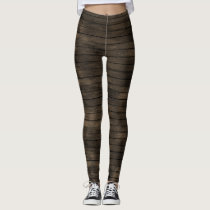rustic barnwood pattern all over printed leggings