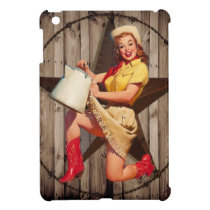 rustic BarnWood texas star western country cowgirl iPad Mini Cover