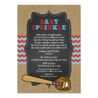 Rustic Baseball Baby Sprinkle / boy baby shower Card