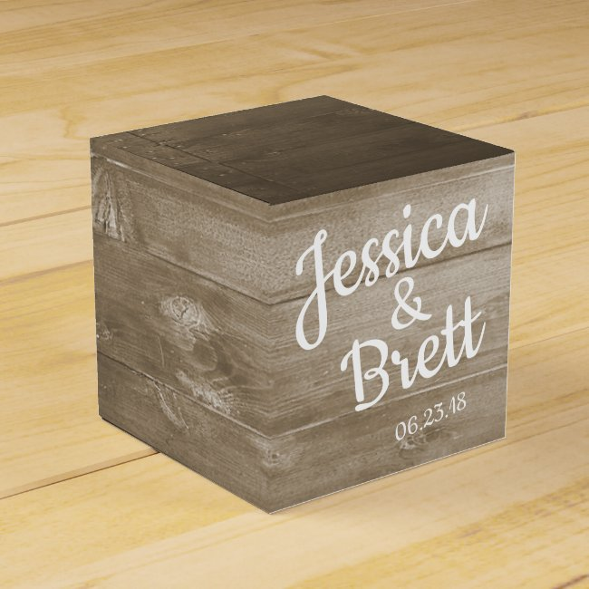 Rustic Beach Favor Box