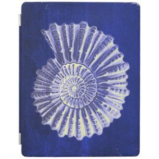 rustic beach  ocean blue vintage sea shells iPad cover