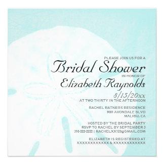 Rustic Beach Sand Dollar Bridal Shower Invitations Custom Invitations