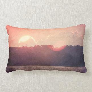 Rustic Beach Sunset Pillow