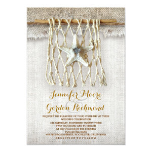 rustic beach wedding invitation 5