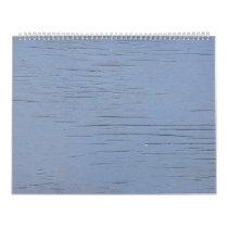 Rustic Beach Wood (blue) Calendar