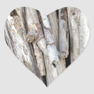 Rustic Beachy Driftwood Stack from Oregon Coast Heart Sticker