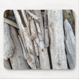 Rustic Beachy Driftwood Stack from Oregon Coast Mousepad