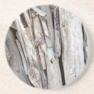 Rustic Beachy Driftwood Stack from Oregon Coast Sandstone Coaster