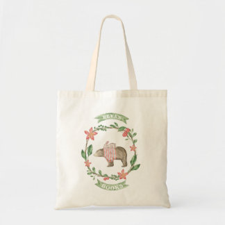 Rustic Bear & Bunny Personalized Library Bag