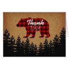Rustic Bear Thank You Card