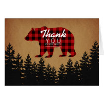 Rustic Bear Thank You Card