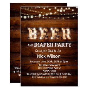 Diaper Party Invitations Zazzle