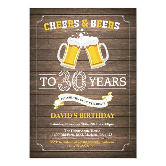 rustic beer surprise 30th birthday invitation zazzle com