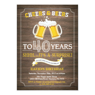 surprise 40th birthday invitations zazzle