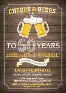 Surprise 60th birthday invitations announcements zazzle rustic beer surprise 60th birthday invitation filmwisefo