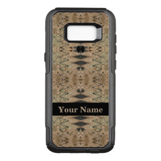 Rustic Beige and Black Abstract Design OtterBox Commuter Samsung Galaxy S8+ Case