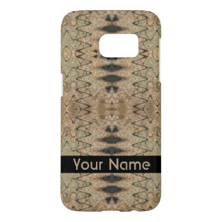 Rustic Beige and Black Abstract Design Samsung Galaxy S7 Case
