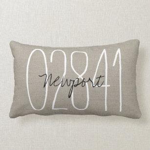 wedding gift Zip Code housewarming gift cushion cover,throw Pillow Form Available engagement present 30/% OFF Lumbar Pillow home decor