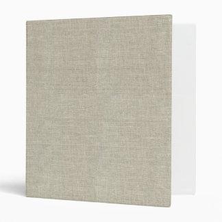Rustic Beige Linen Printed Binders