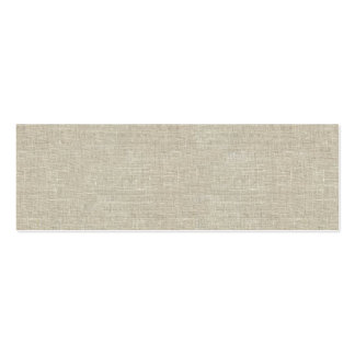 Rustic Beige Linen Printed Double-Sided Mini Business Cards (Pack Of 20)