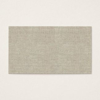 Rustic Beige Linen Printed Business Card