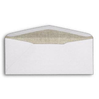 Rustic Beige Linen Printed Envelopes