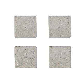 Rustic Beige Linen Printed Stone Magnet