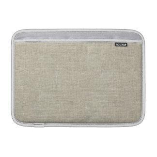 Rustic Beige Linen Printed MacBook Sleeve