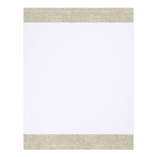 Rustic Beige Linen Printed Letterhead