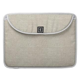 Rustic Beige Linen Printed MacBook Pro Sleeves