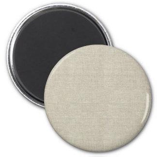 Rustic Beige Linen Printed Magnets