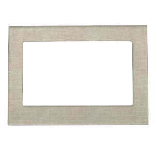 Rustic Beige Linen Printed Magnetic Picture Frame