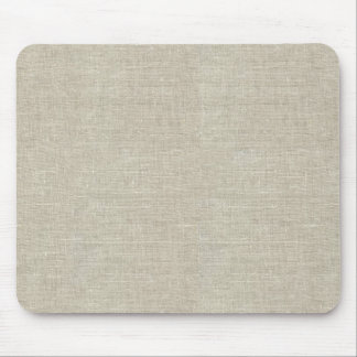 Rustic Beige Linen Printed Mouse Pad