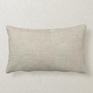 Rustic Beige Linen Printed Throw Pillows