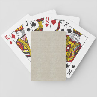 Rustic Beige Linen Printed Playing Cards