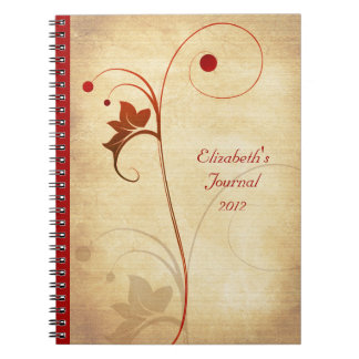 Rustic Berry and Vine Journal Notebook