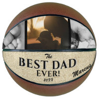 Rustic Best Dad Ever Father`s Day Keepsake 3 Photo Basketball