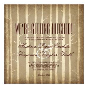 Rustic Birch Aspen Trees Fall Wedding Invitations Personalized Invitation
