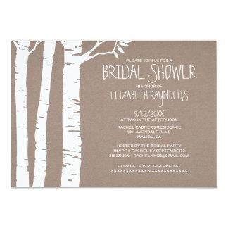 Rustic Birch Tree Bridal Shower Invitations Custom Invitations