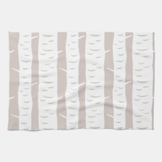 Rustic Birch Tree Pattern Hand Towel