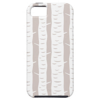 Rustic Birch Tree Pattern iPhone 5 Covers