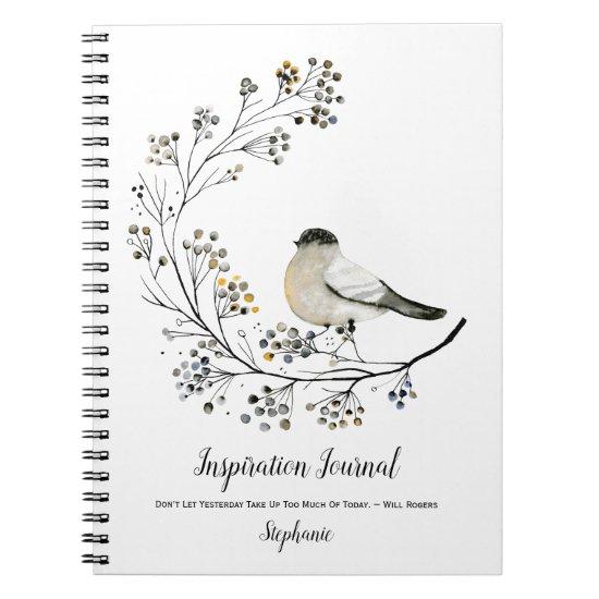Rustic Bird Berries Twigs Inspiration Journal