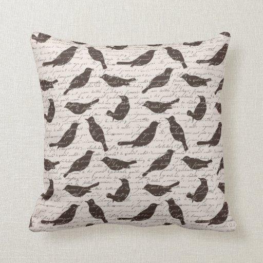 Decorative Pillows Rustic : Rustic Bird Throw Pillow Zazzle