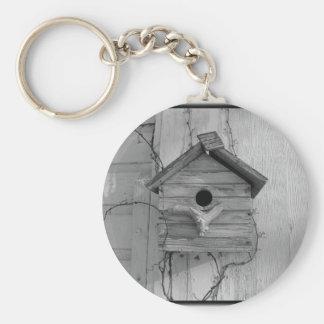 Rustic Birdhouse Keychain