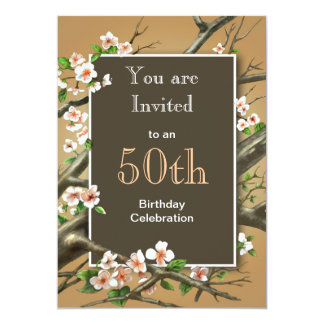 Rustic Birthday Party Card
